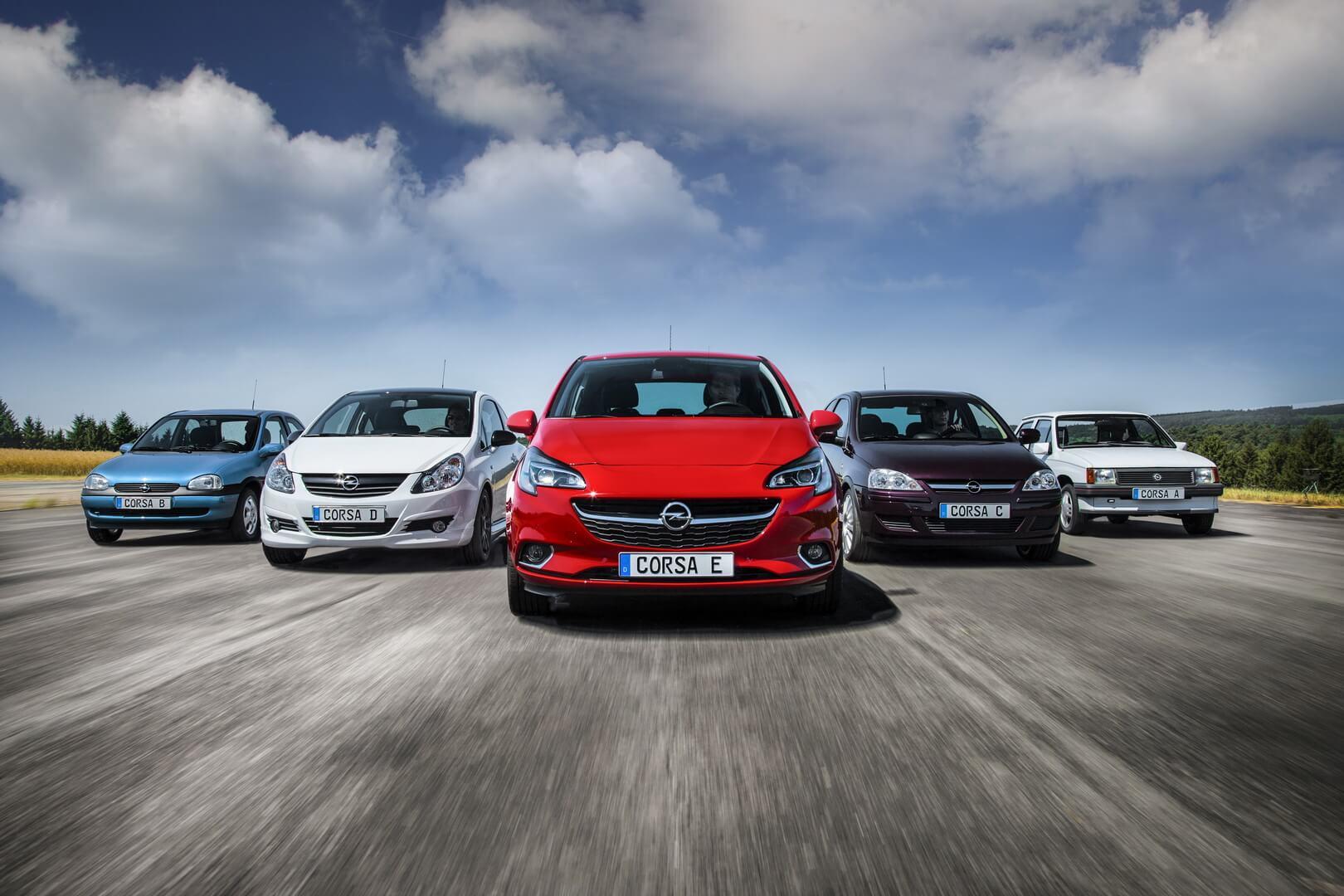 Поколения Opel Corsa
