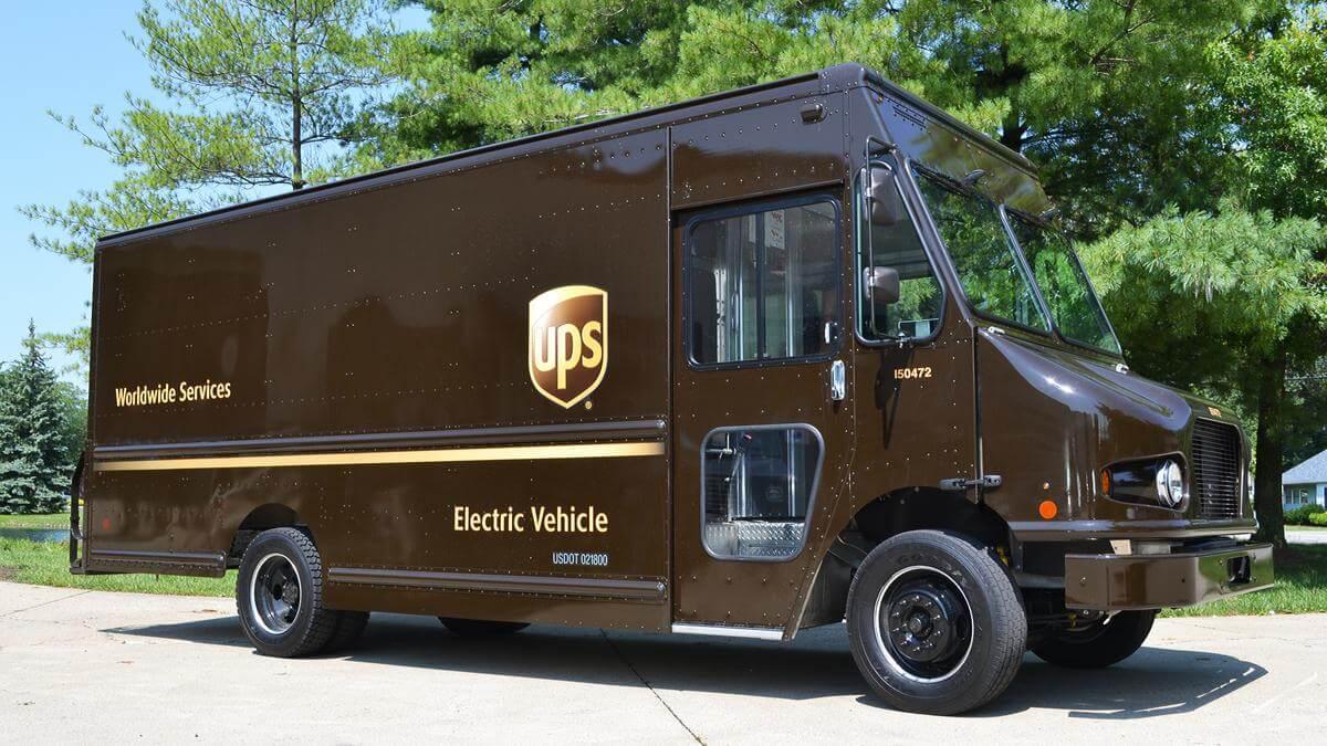 Электрический грузовик UPS