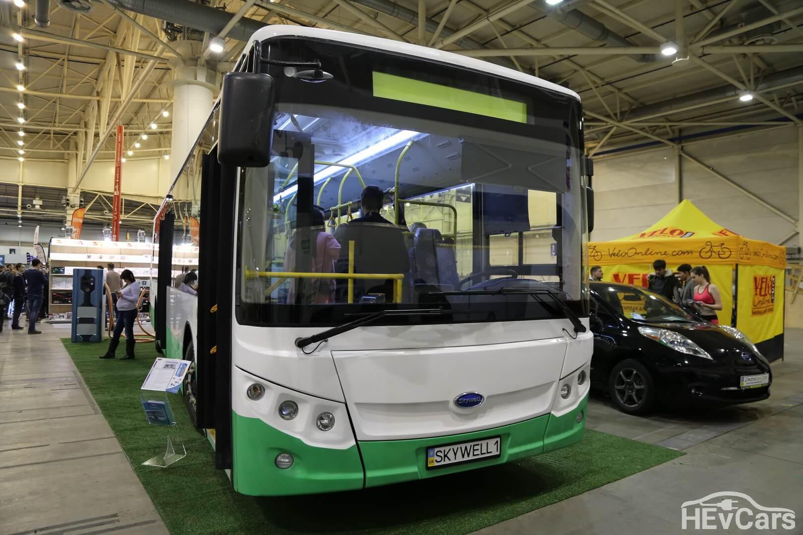 Удлиненная версия китайского электроавтобуса Skywell