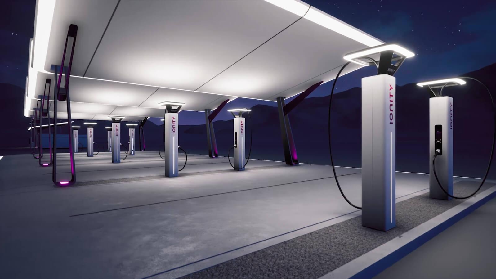 Дизайн быстрых зарядных станций IONITY
