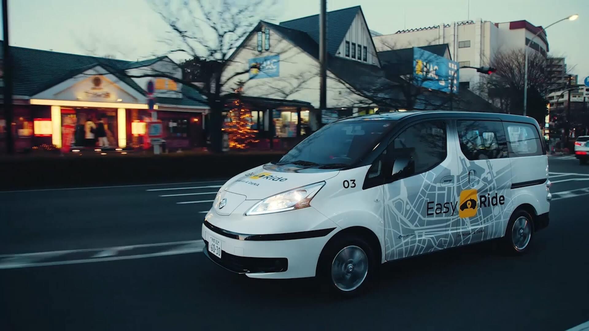 Беспилотный электрический фургон Nissan eNV200