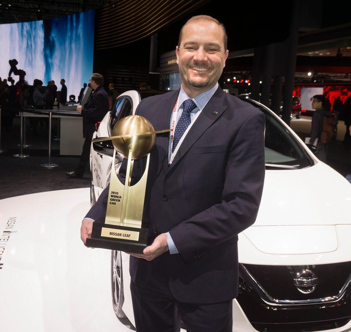 Nissan Leaf 2018 получил награду «Зеленый автомобиль 2018 года»