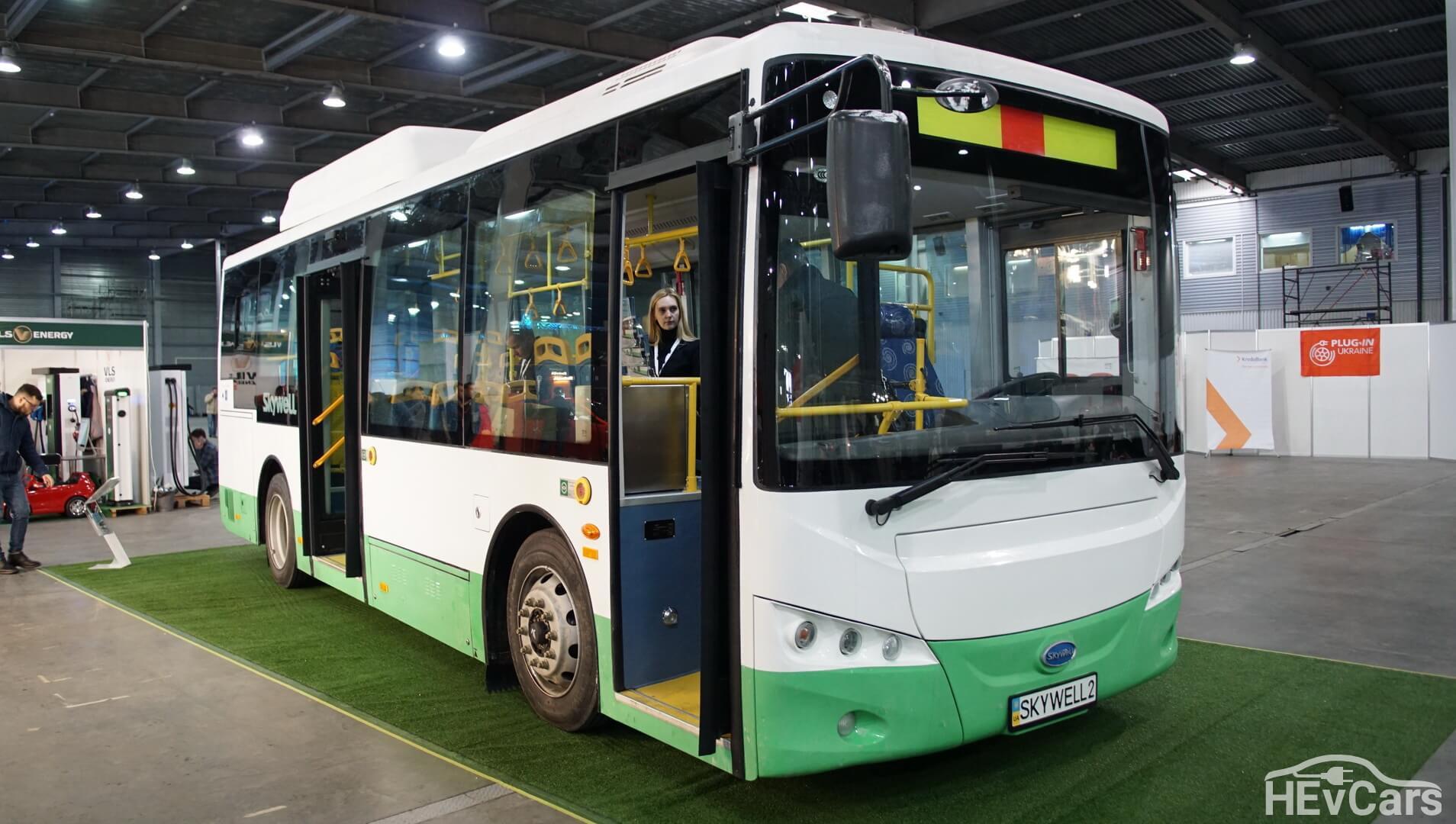 Электроавтобус Skywell NJL6859BEV на выставке Plug-In Ukraine