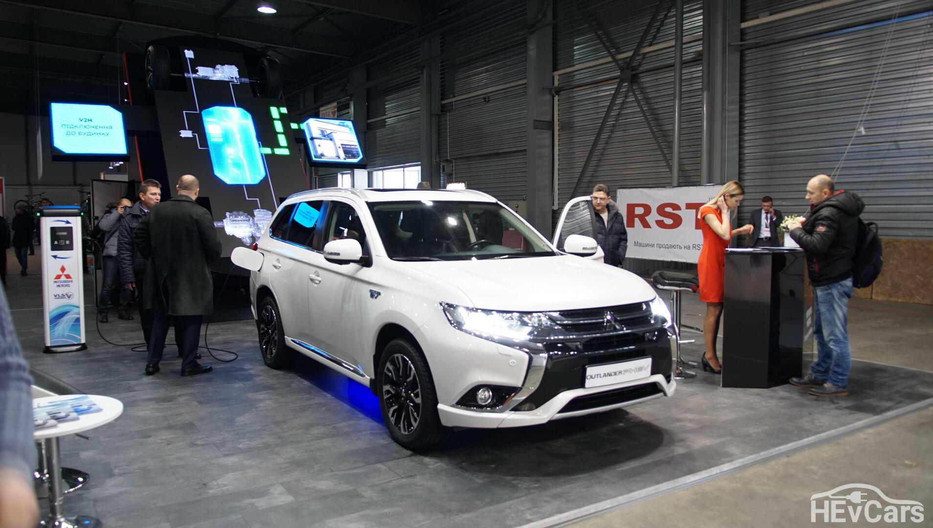 Mitsubishi Outlander PHEV на выставке Plug-in Ukraine 2018