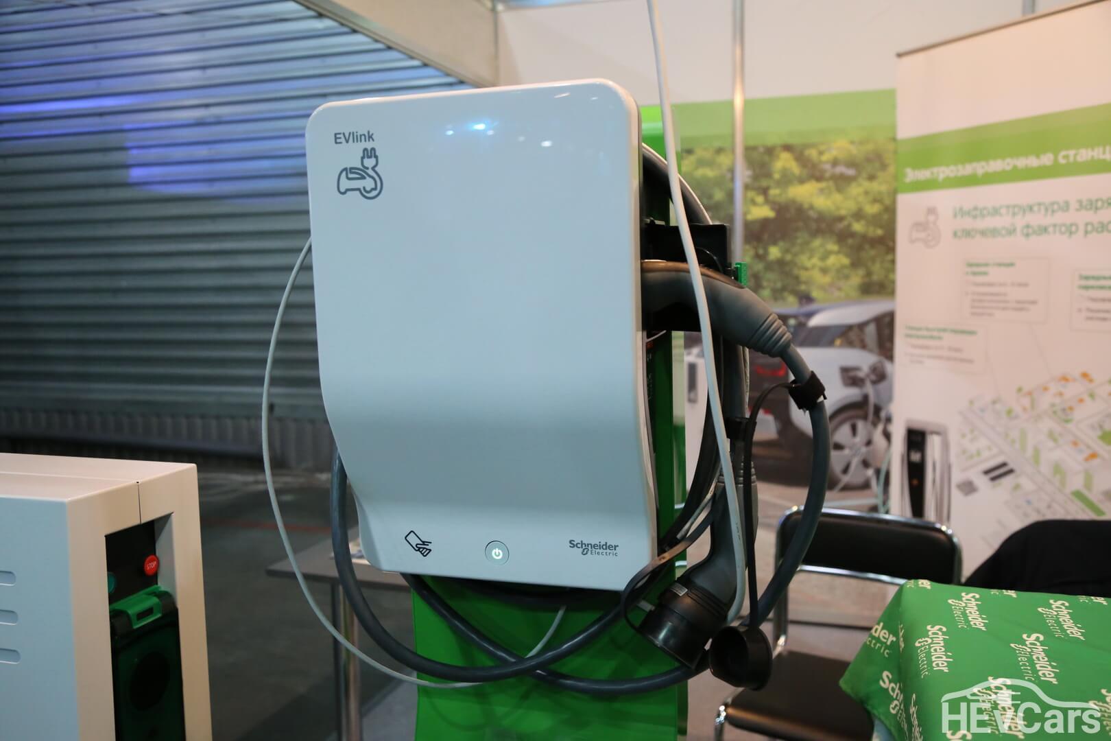 Зарядные станции EVlink от Schneider Electric