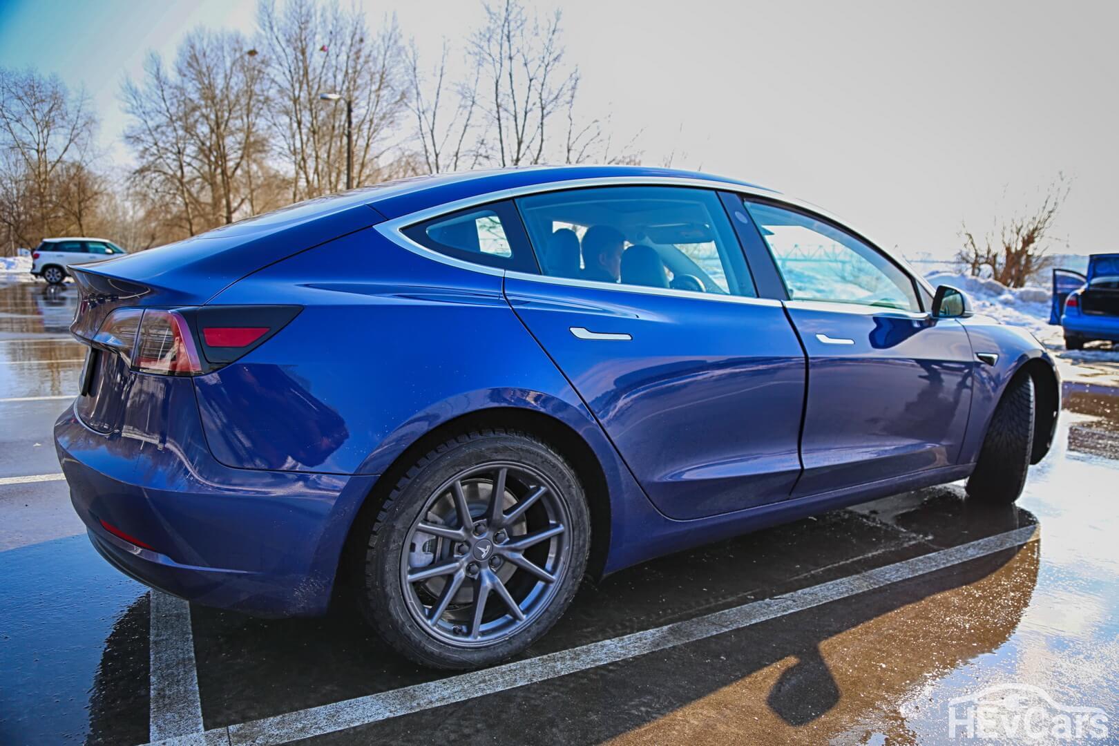 Tesla Model 3 Long Range — вид сбоку