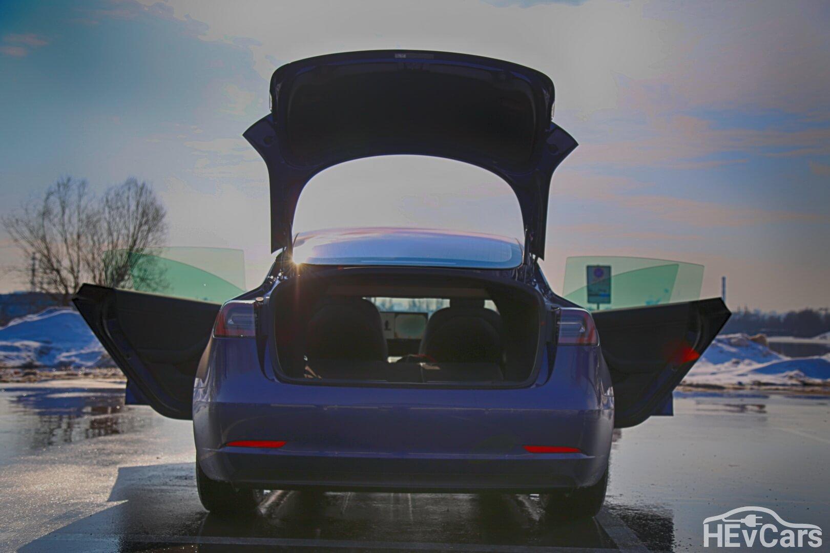 Tesla Model 3 Long Range — вид сзади