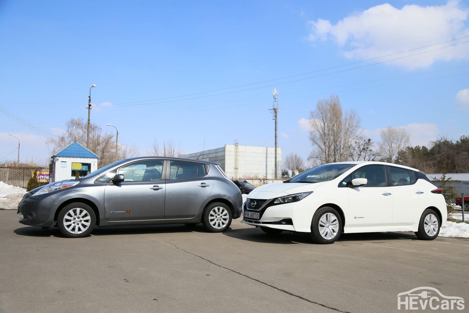 Nissan Leaf первого и второго поколений