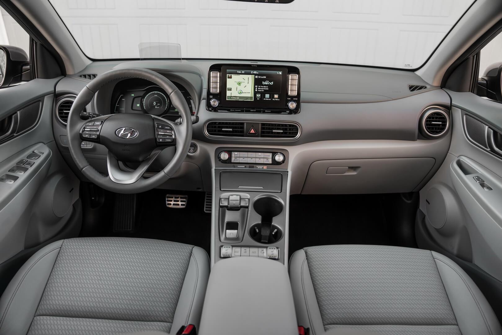 Интерьер Hyundai Kona Electric