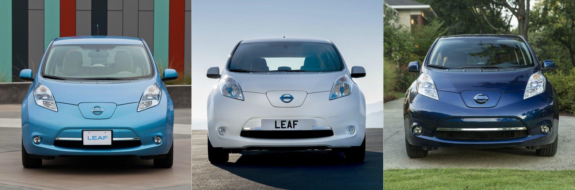 Модельный ряд Nissan Leaf первого поколения внешне без отличий