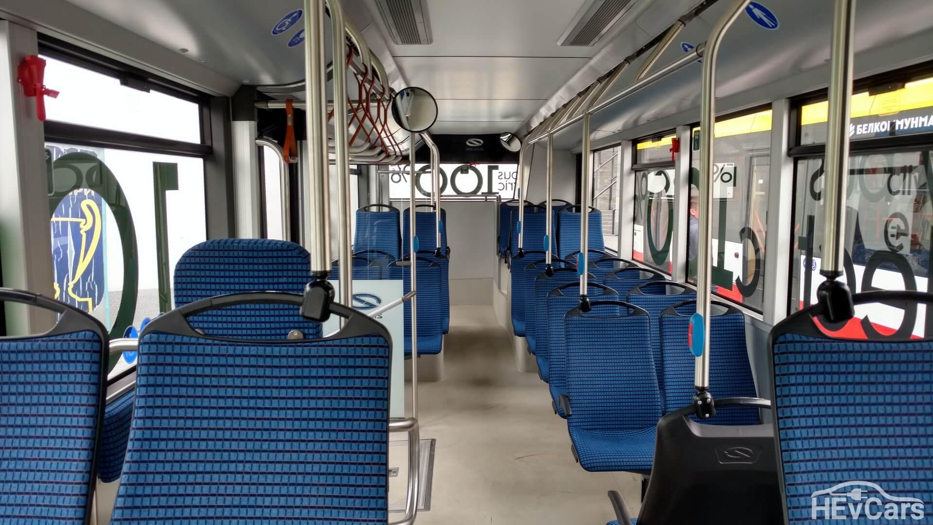 Пассажирский салон Solaris Urbino 12 Electric