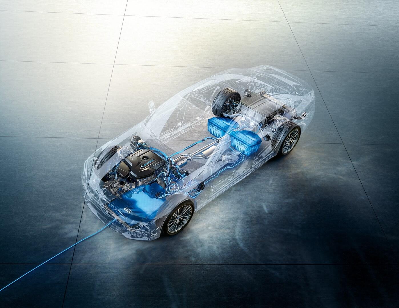 Схема беспроводной зарядки в BMW 530e iPerformance