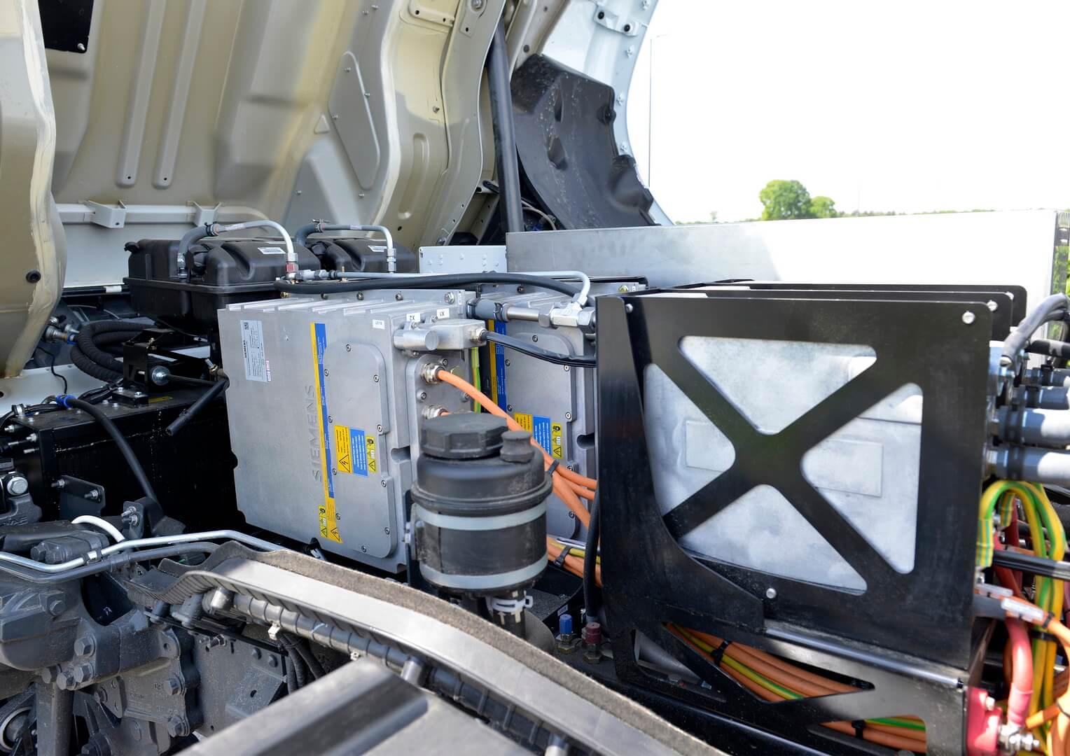 Силовая установка электрогрузовика DAF CF Electric