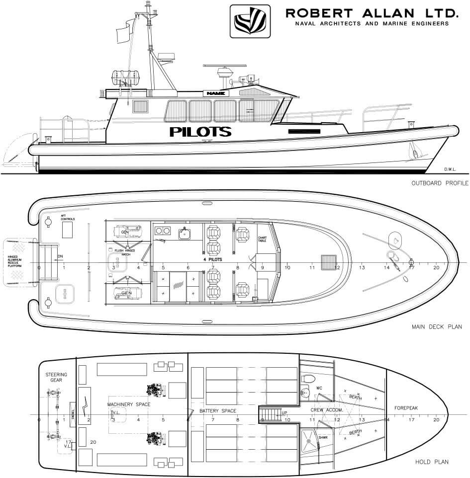 Схема полностью электрического судна Rally 1600-E