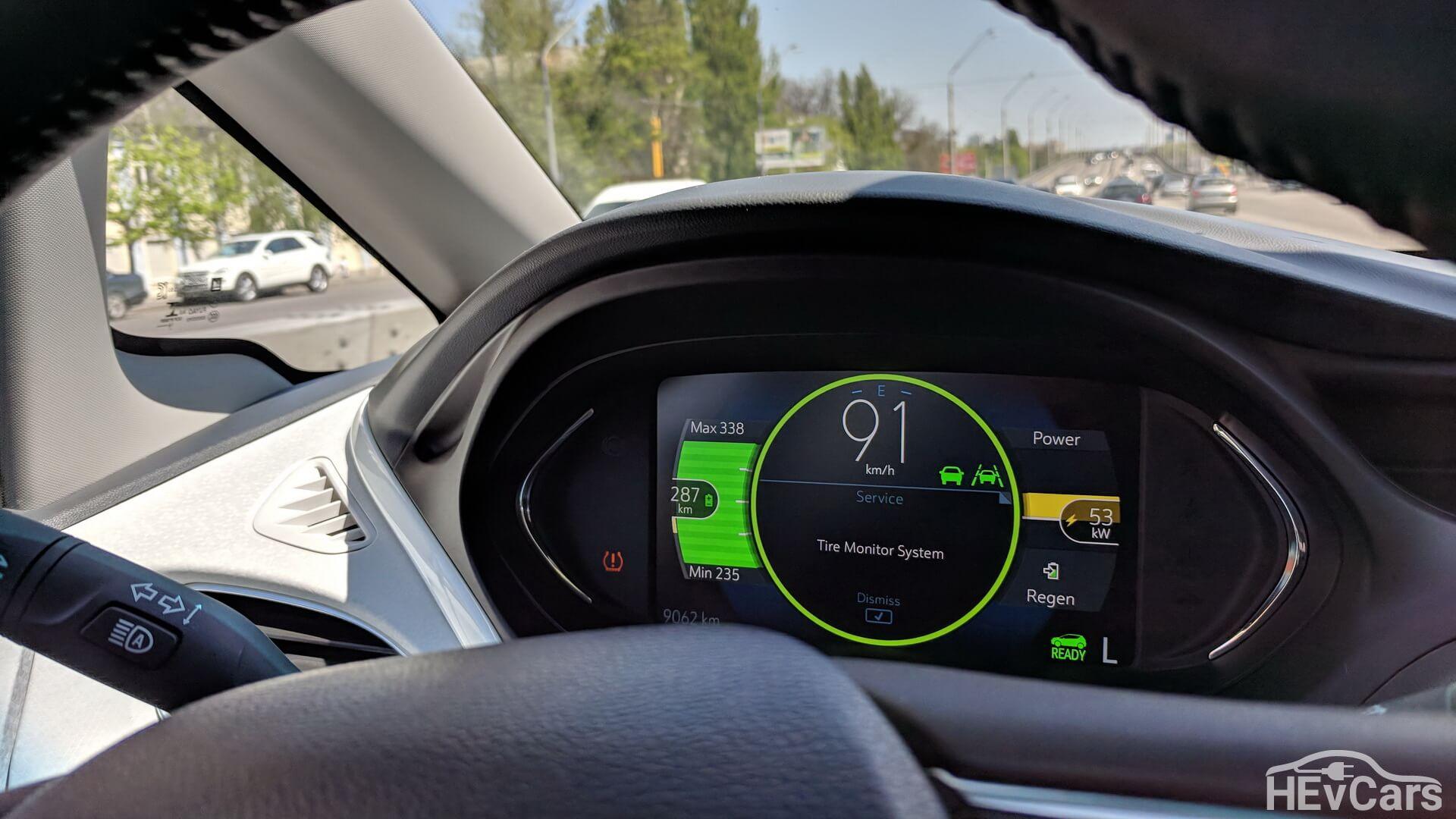 Расход энергии при ускорении Chevrolet Bolt