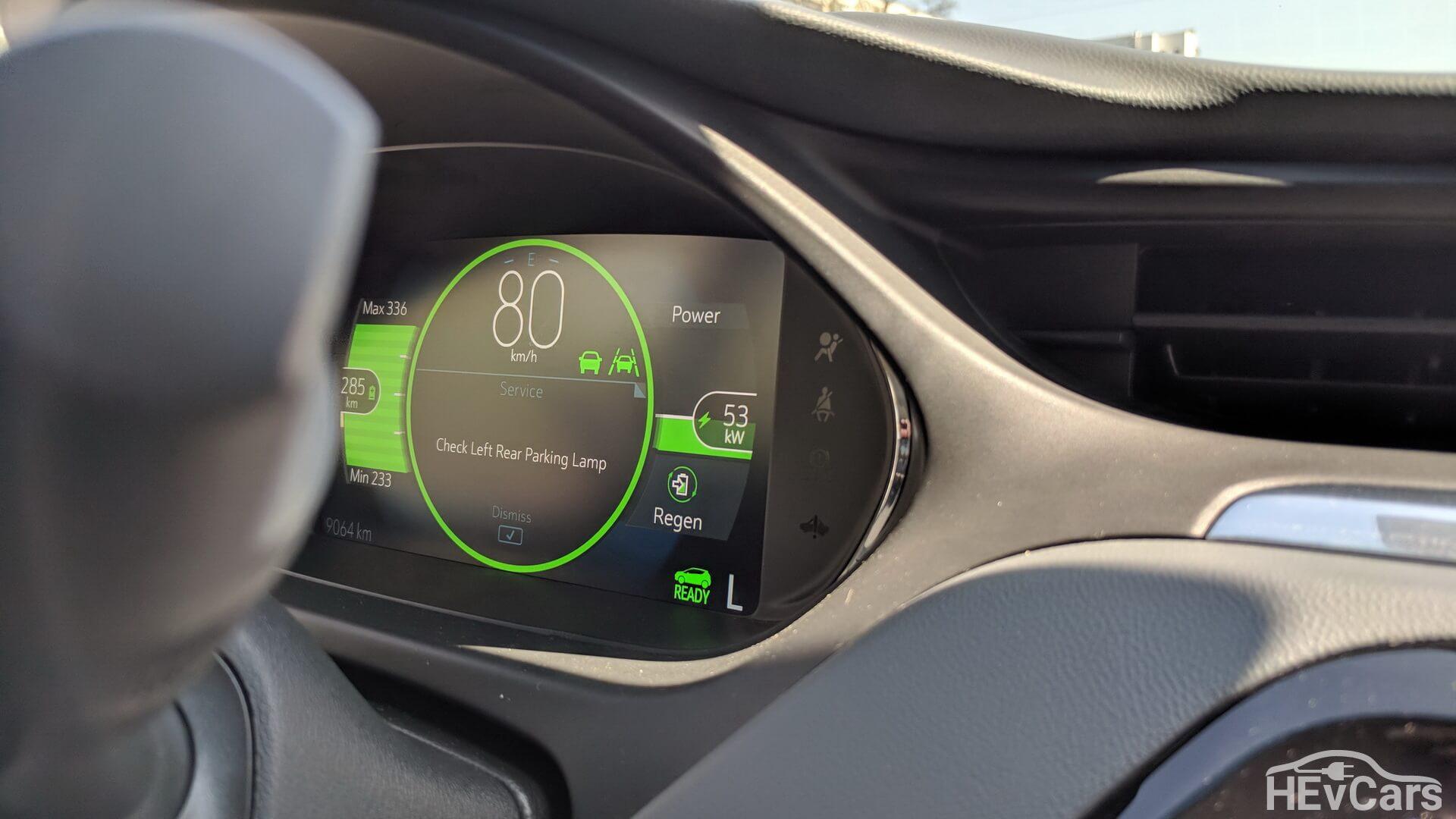 Возврат энергии при торможении (рекуперация) Chevrolet Bolt
