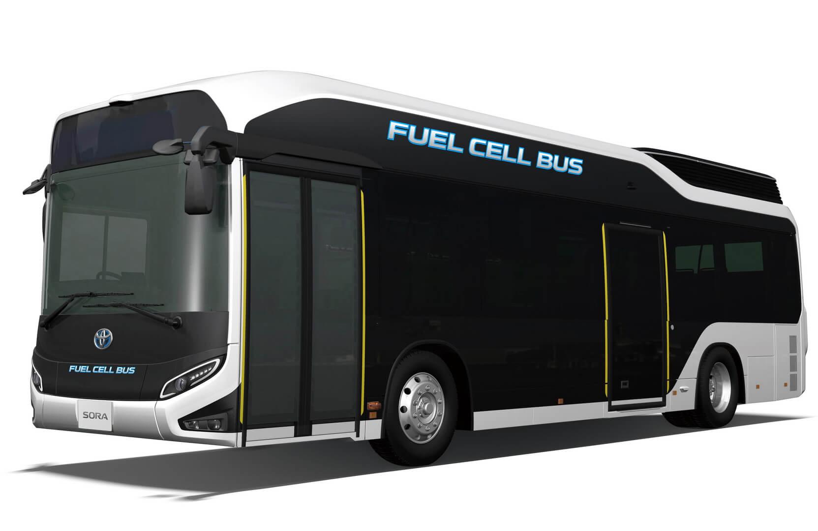 Автобус на водородных топливных элементах Sora