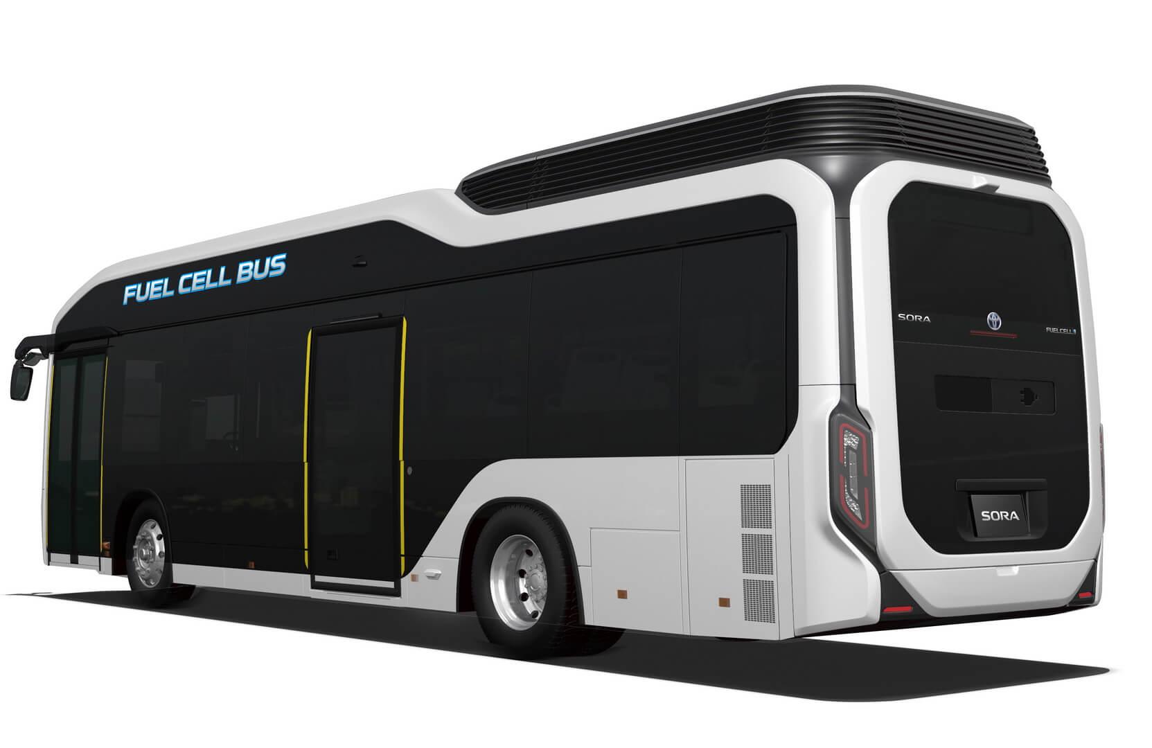 Автобус на водородных топливных элементах Toyota Sora