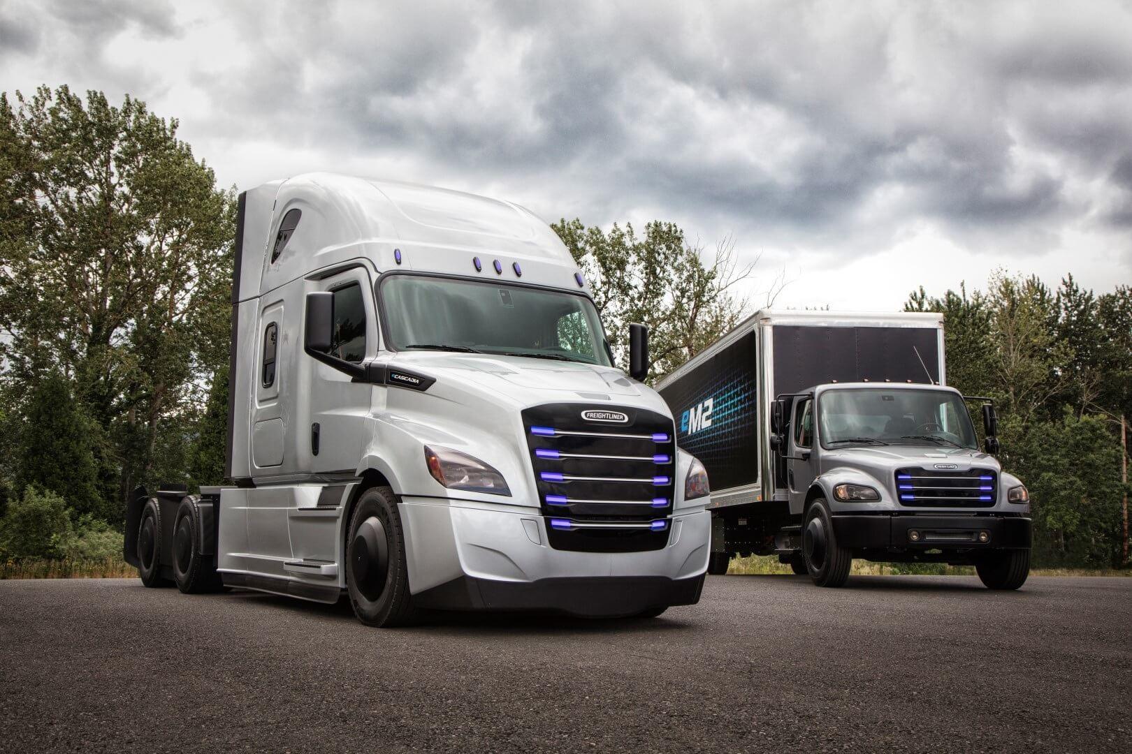 Электрические тягачи Daimler Trucks: Freightliner eCascadia и Freightliner eM2 106