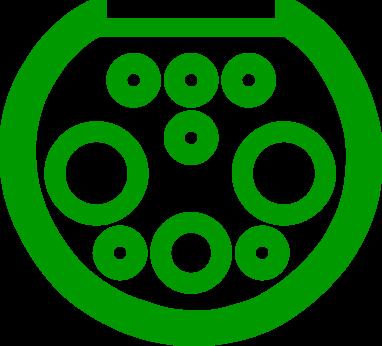 Электромобильный коннектор с разъемом GB/T 20234 постоянного тока (DC)