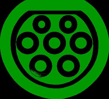 Электромобильный коннектор с разъемом Type 2 Mennekes (Европа)