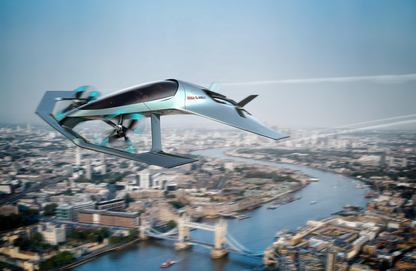 Летающий автомобиль Aston Martin Volante Vision