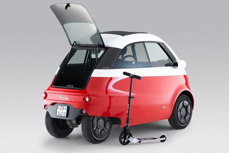 Миниатюрный электромобиль Microlino