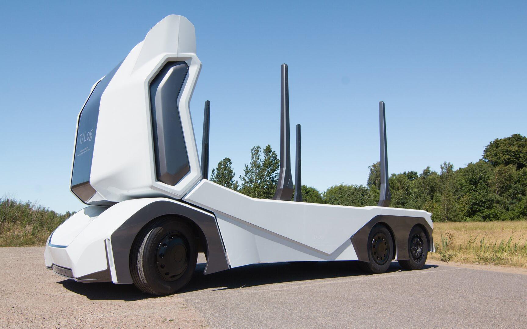 Полностью электрический автономный грузовик T/log
