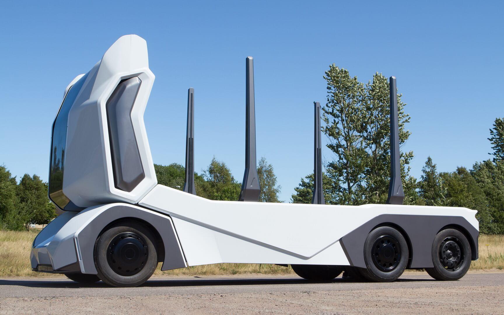 T/log — полностью электрический автономный грузовик без кабины для водителя