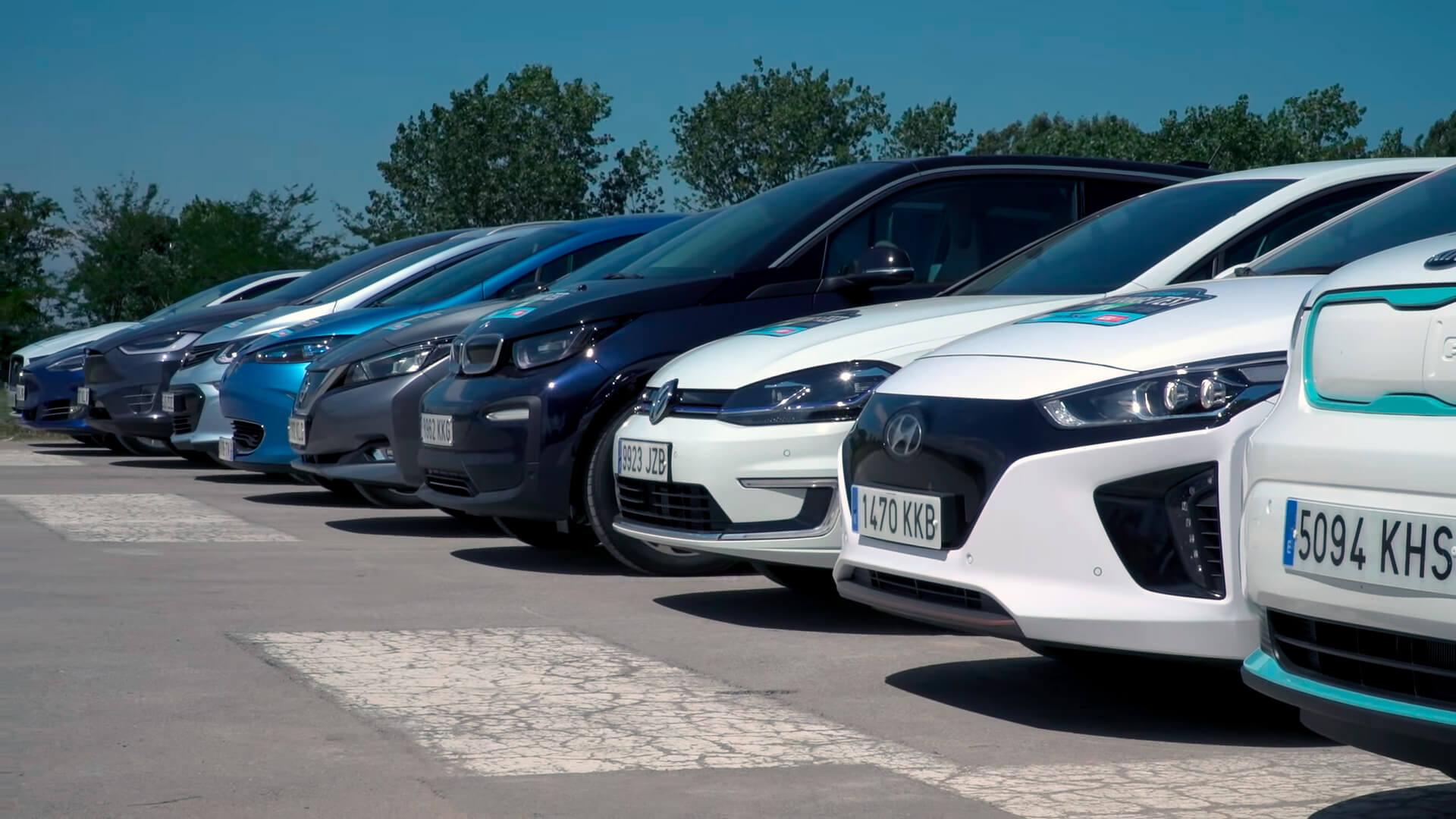 Испытание запаса хода и эффективности 10 электромобилей