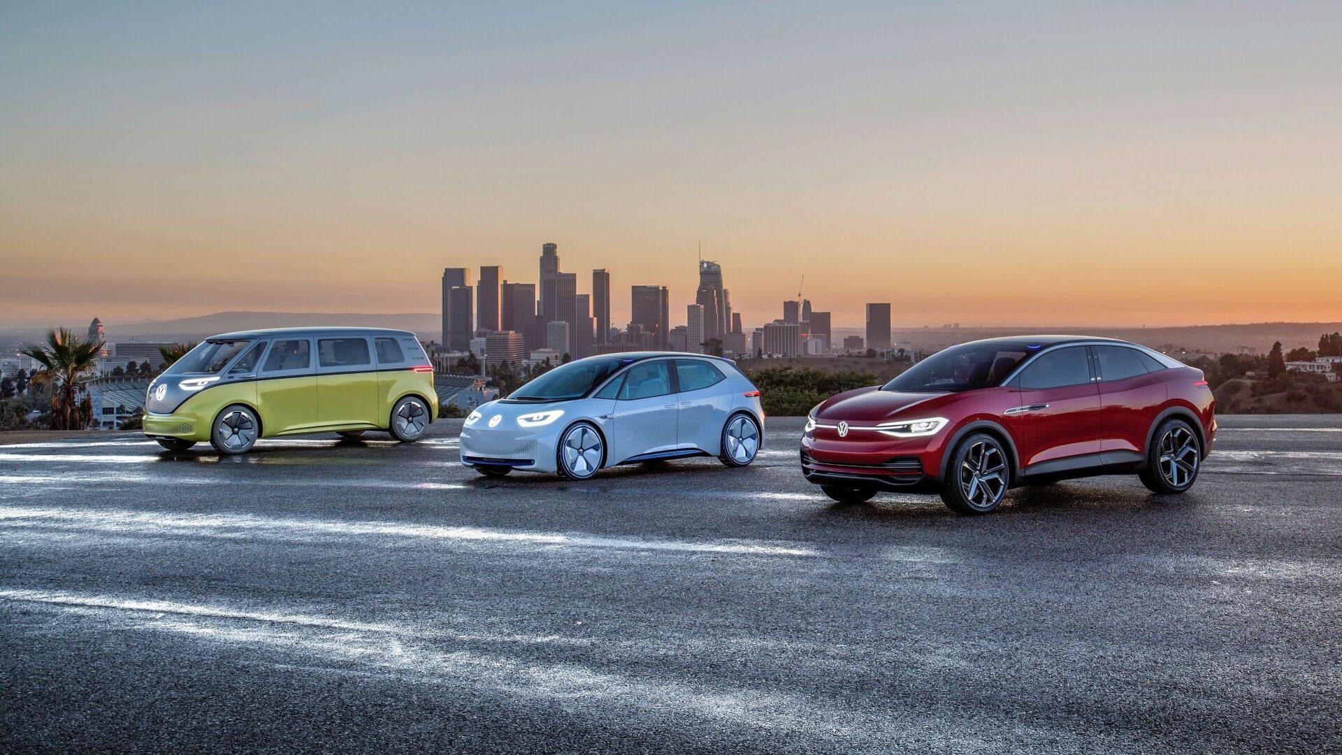 Электромобили Volkswagen из серии I.D. намодульной платформе MEB