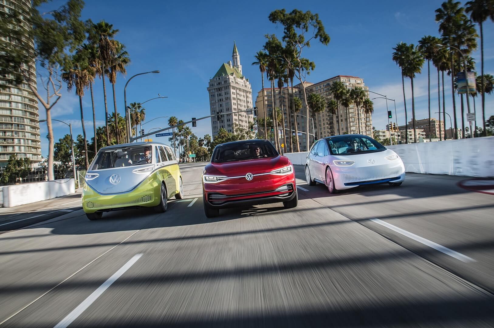 Электрические автомобили Volkswagen I.D. на платформе MEB