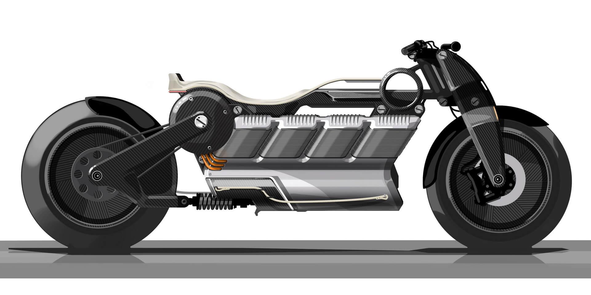 Концепт электрического мотоцикла V8 Curtiss Motorcycles