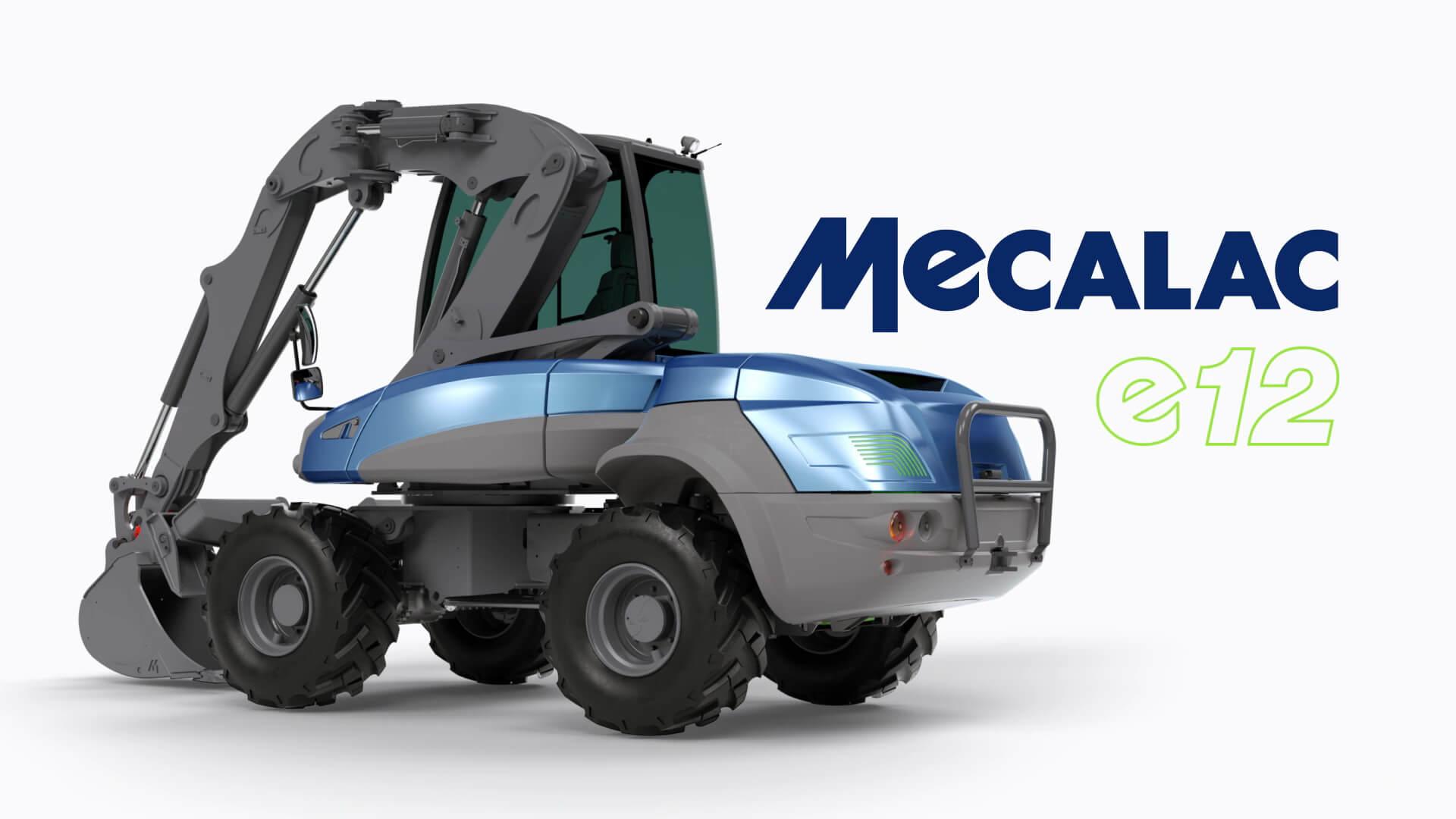 Mecalac представил первый в мире компактный электрический колесный экскаватор e12