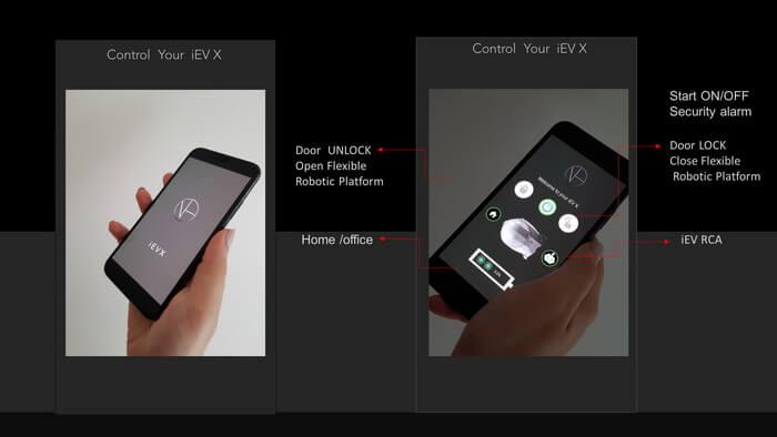 Мобильное приложение для управления iEV X