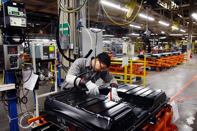 Производство аккумуляторов для Nissan Leaf вСмирне, штат Теннесси, США