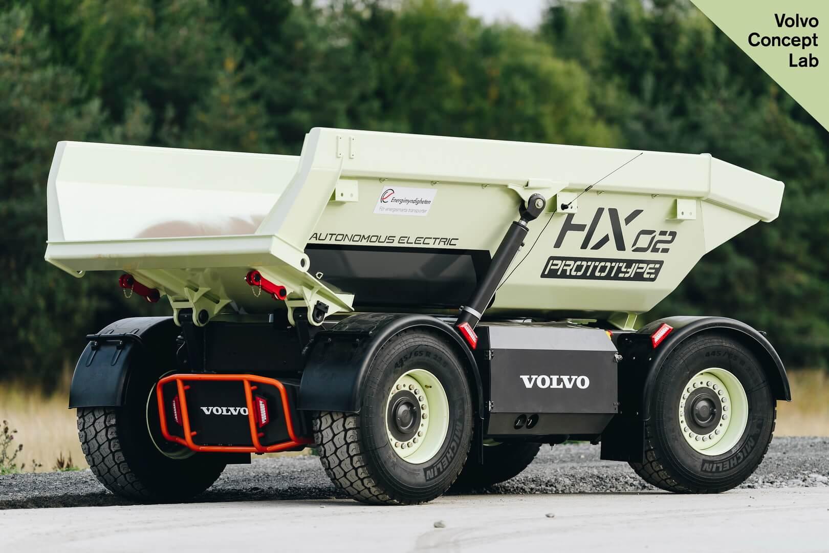Прототип электрического погрузчика Volvo HX2