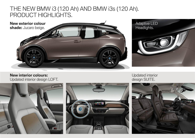 Изменения в отделке салона и новых фарах BMW i3 2019 модельного года