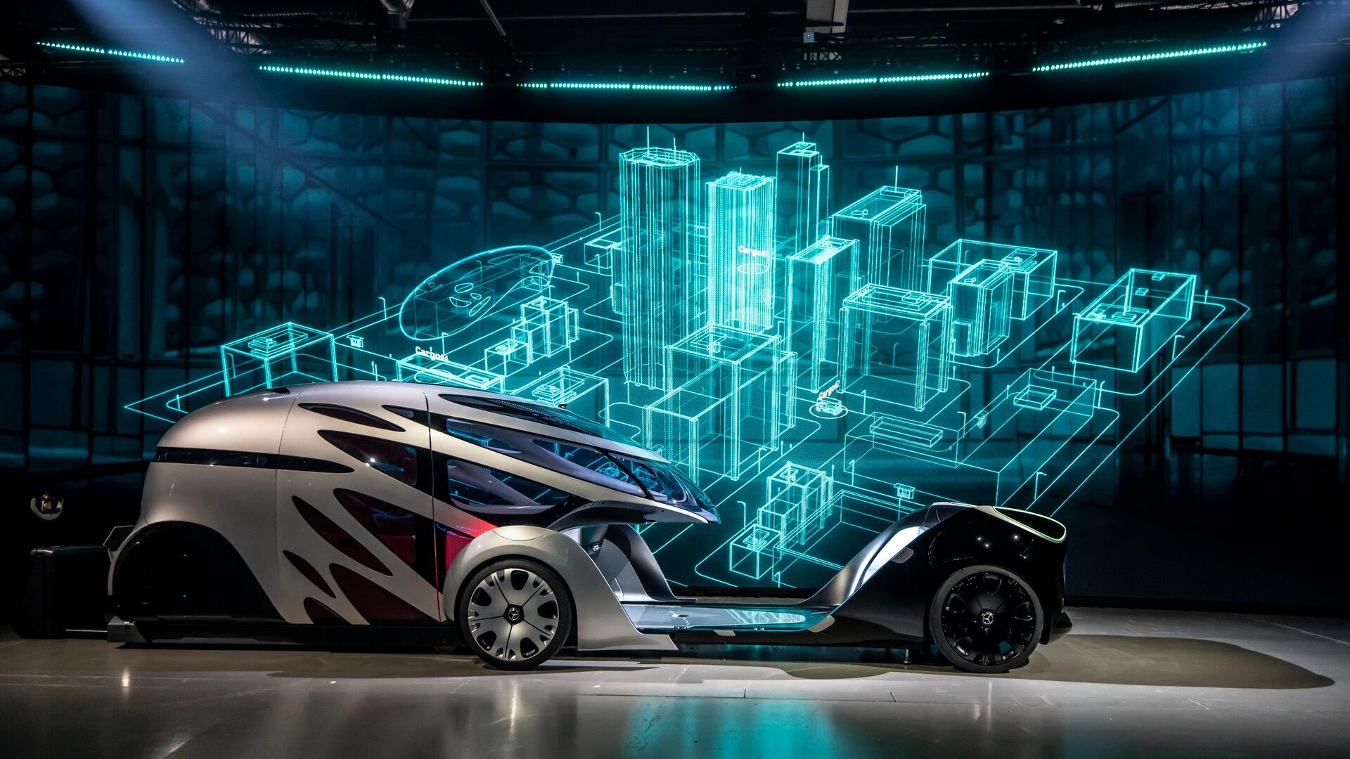Модульная система электрического концепта Mercedes-Benz Vision URBANETIC
