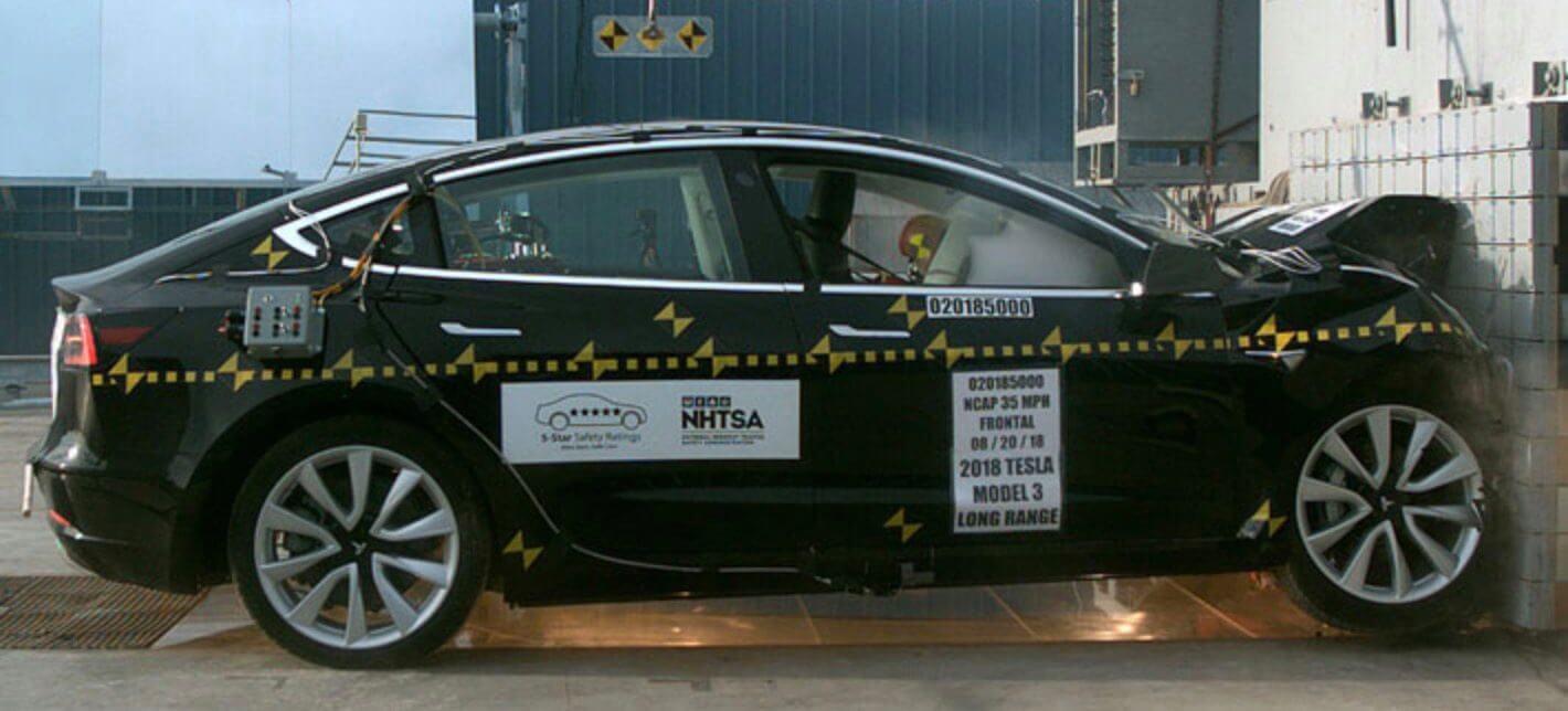 Фронтальный краш-тест Tesla Model 3