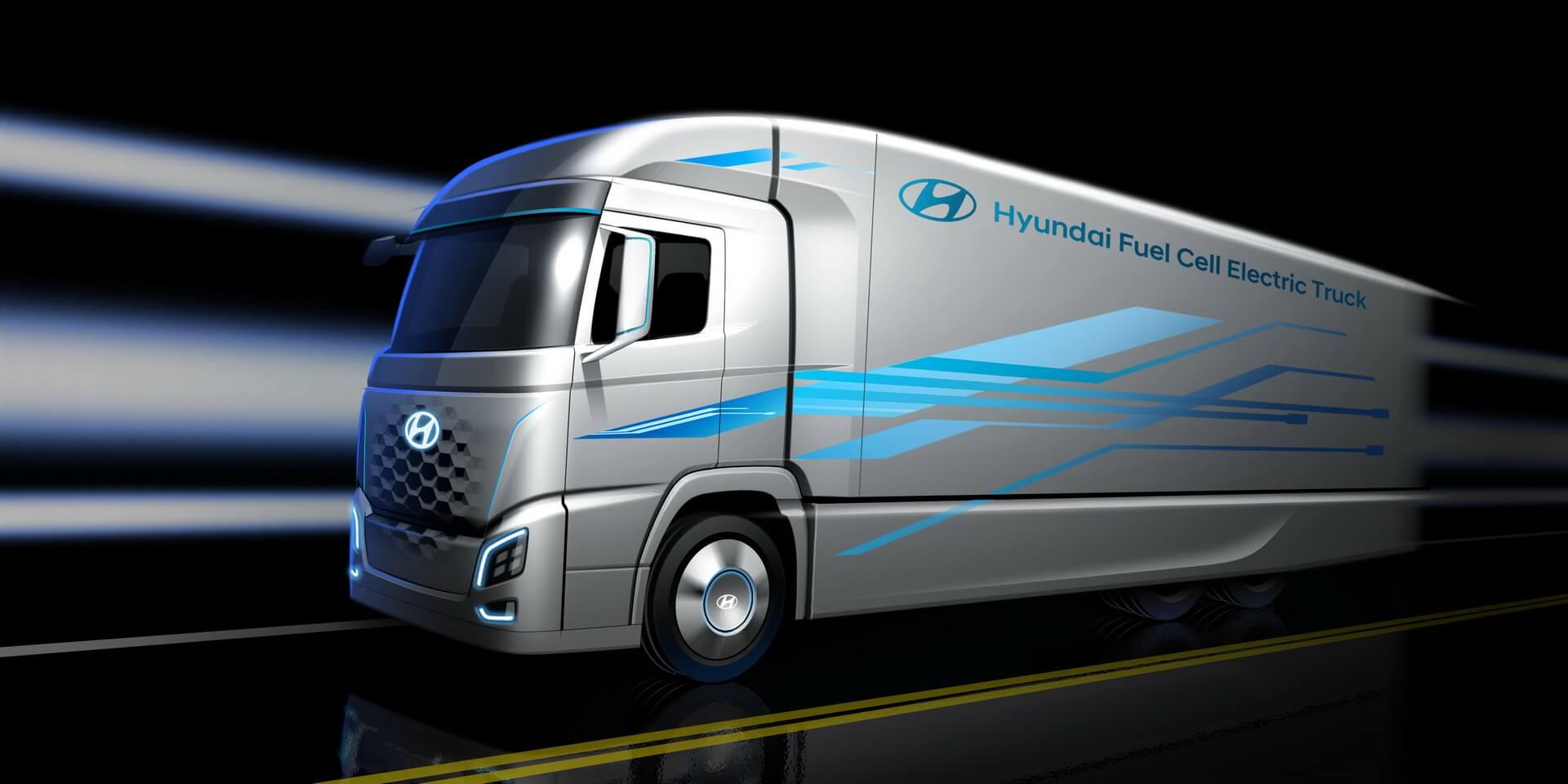 Hyundai Motor представил фото-тизер электрогрузовика натопливных элементах