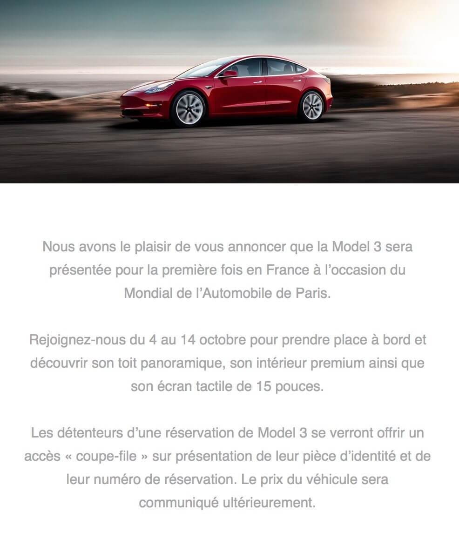 Клиенты Tesla получили приглашение наПарижский автосалон 2018