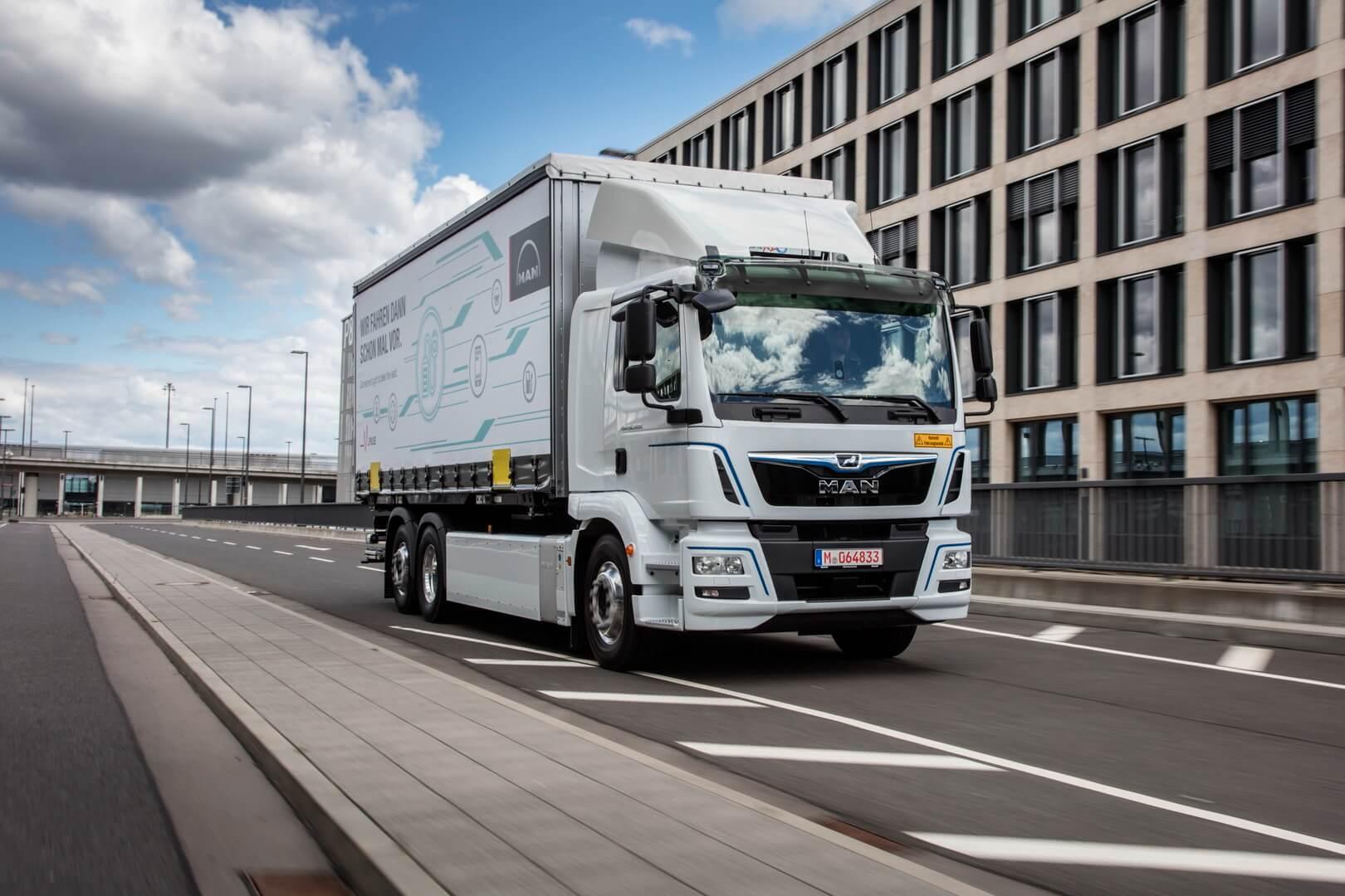 26-тонный электрический грузовик MAN eTGM