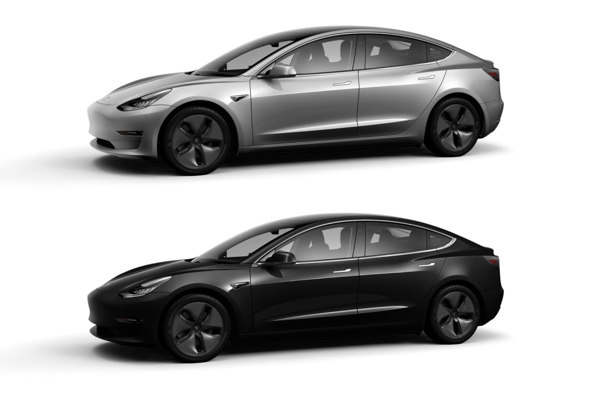 Tesla исключает 2цвета кузова: Silver Metallic иObsidian Black Metallic