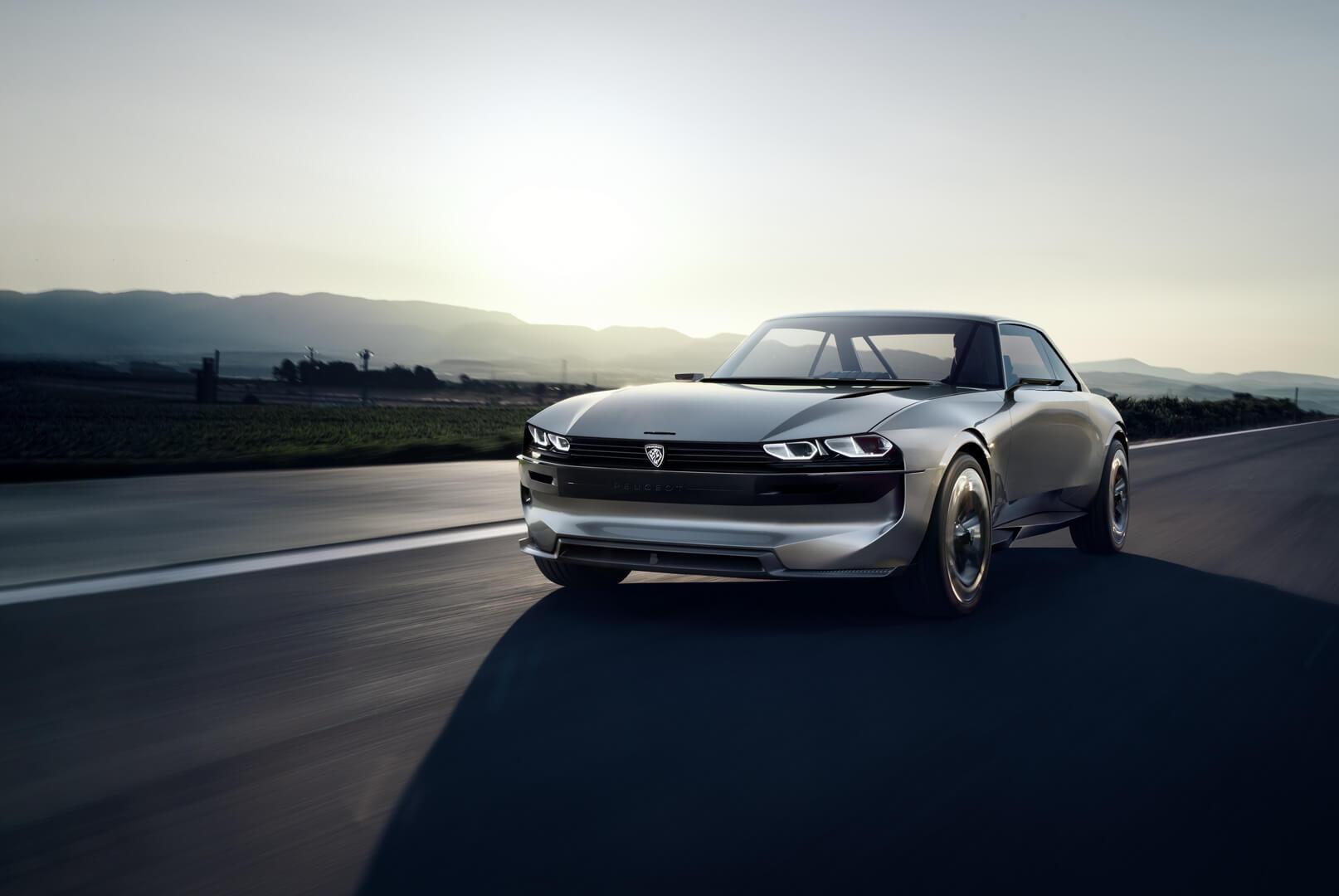 Электрический концепт-кар Peugeot e-Legend в ретро стиле