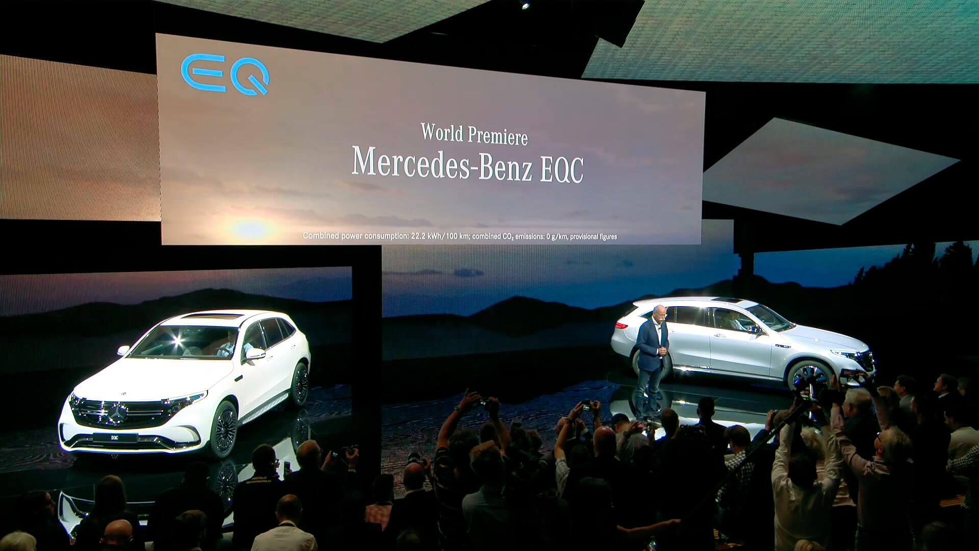 Официальное представление электрического кроссовера Mercedes-Benz EQC в Стокгольме