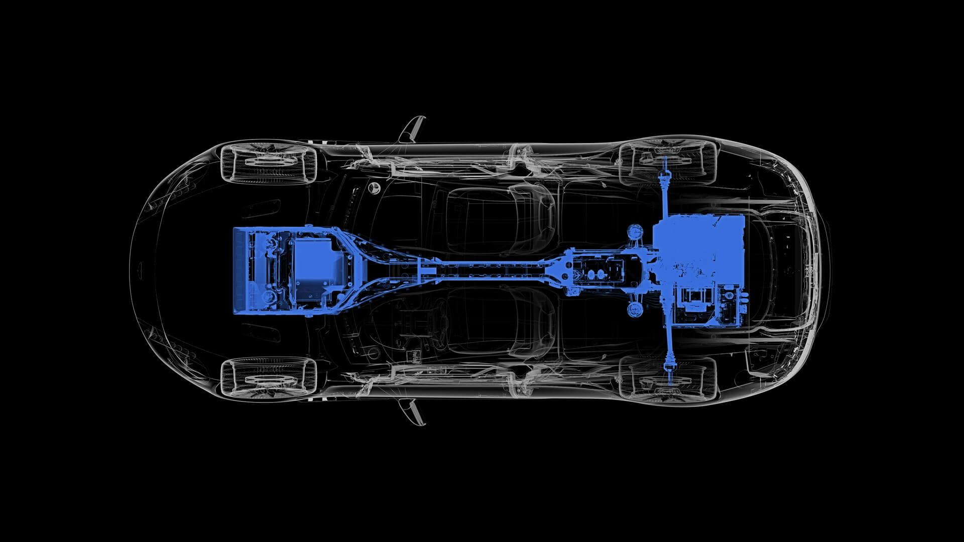 Силовые агрегаты электромобиля Aston Martin Rapide E