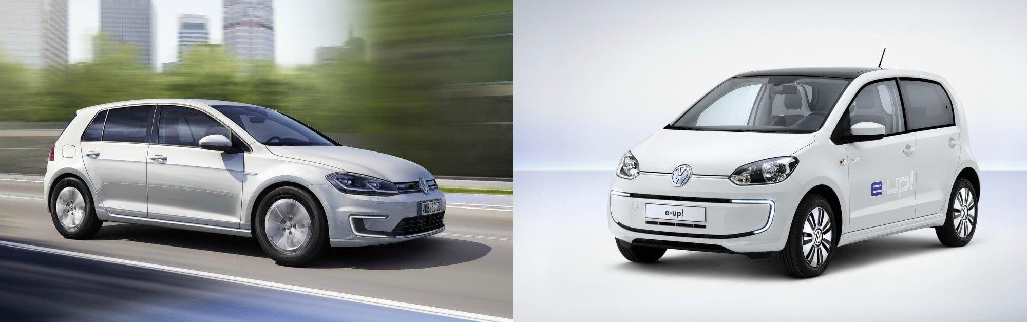 Электромобили Volkswagen e-Golf и e-Up созданные на ДВС платформе