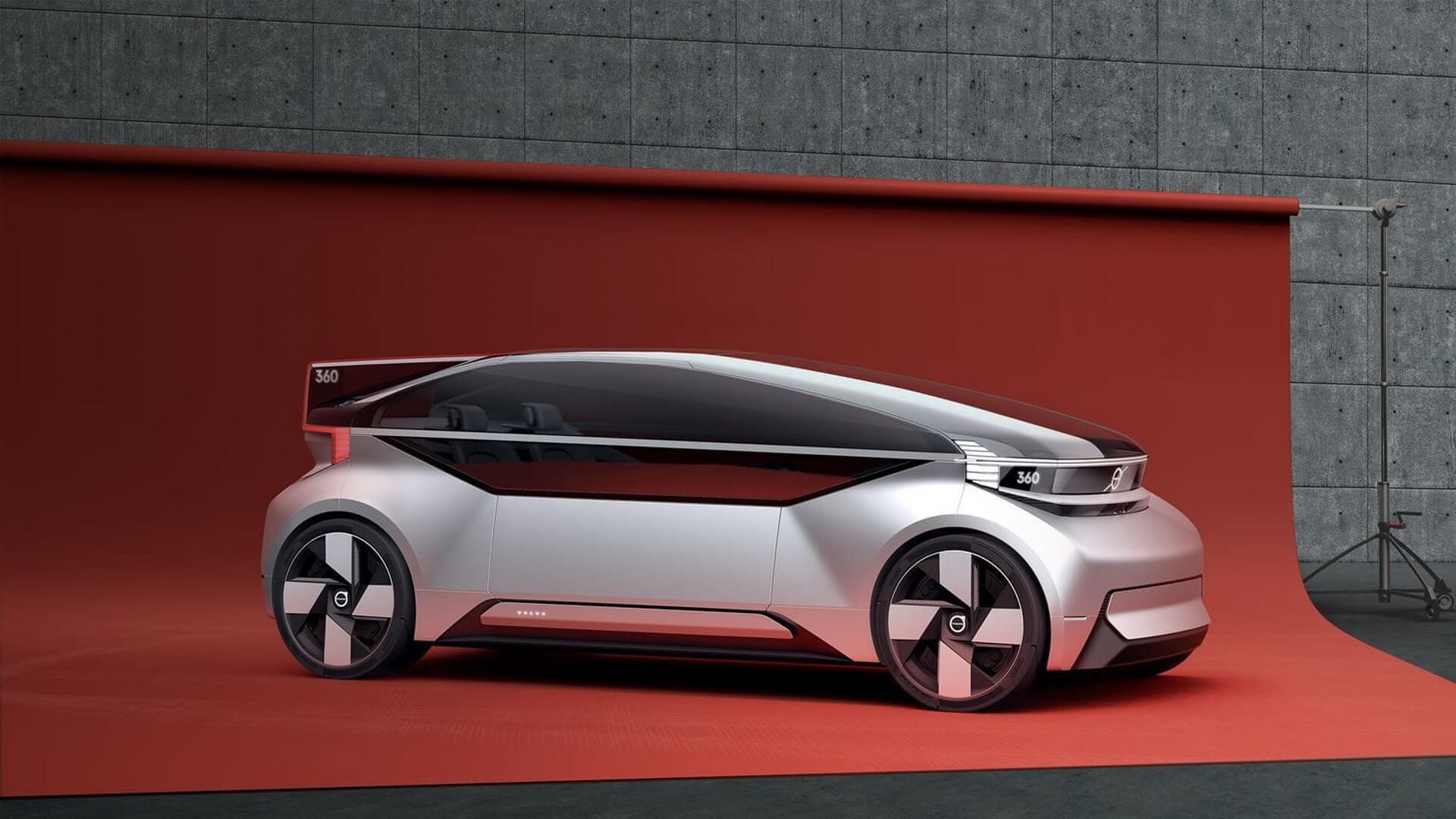 Volvo представил полностью автономный электрический концепт-кар 360c