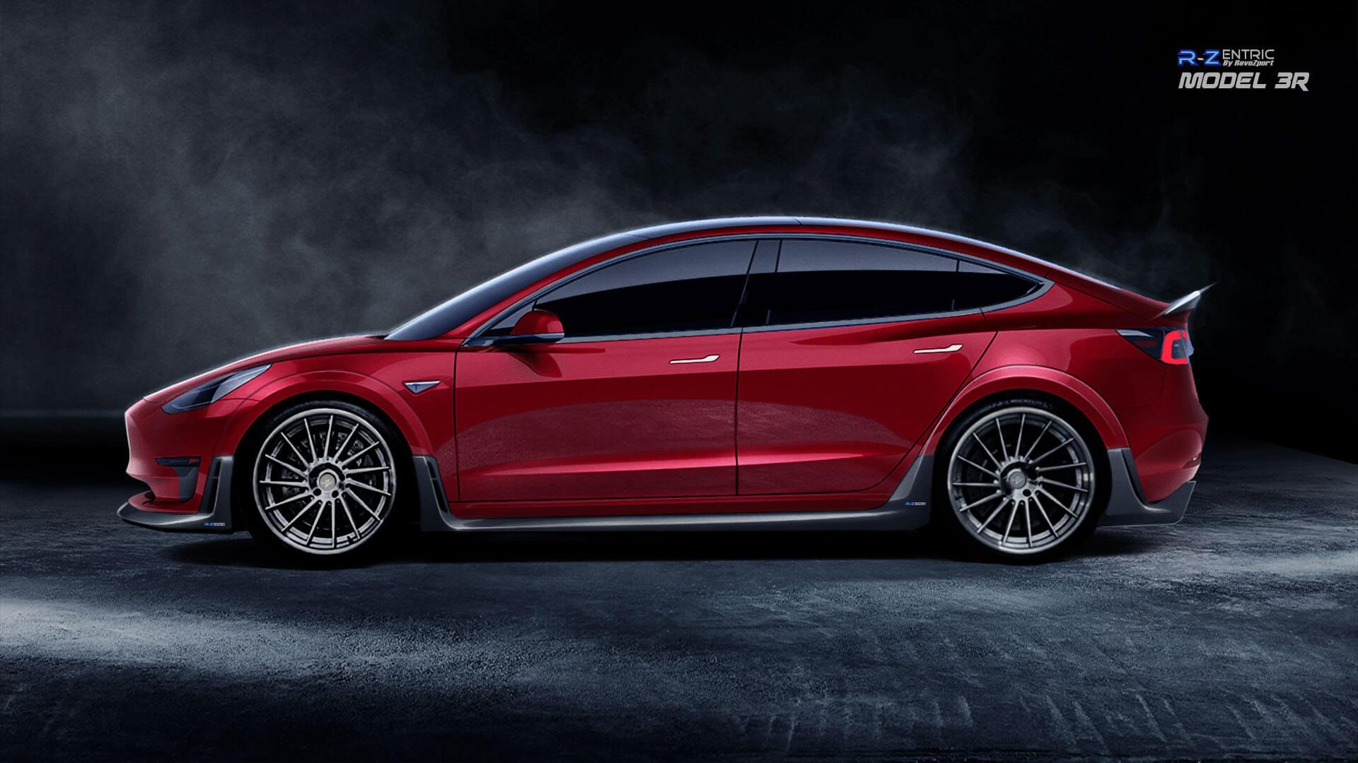 Комплект аэродинамического кузовного тюнинга RevoZport для Tesla Model 3
